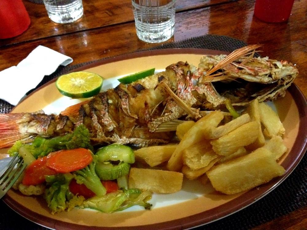 poisson bahia drake repas