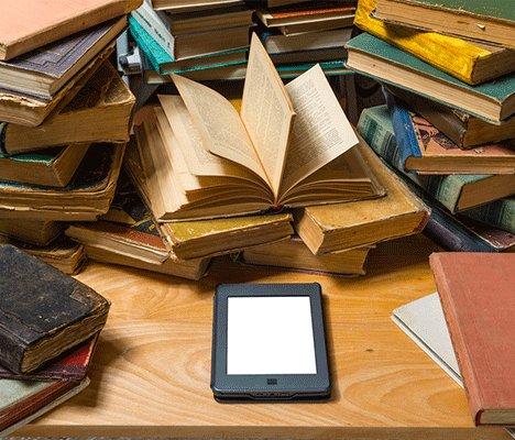liseuse ebook nombreux livres