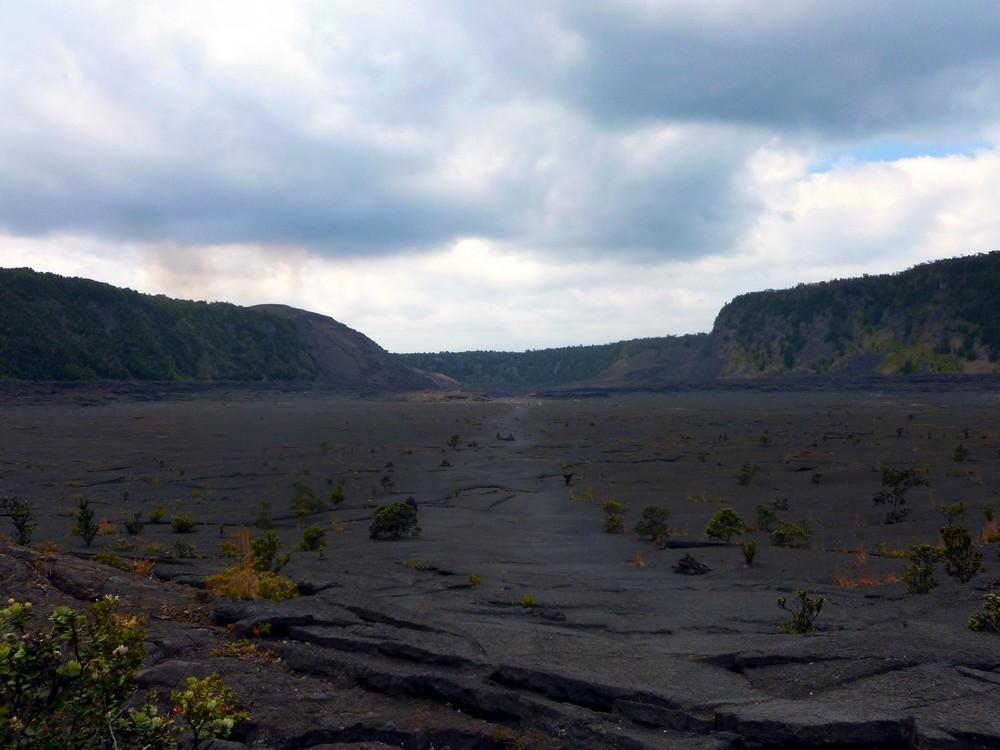 crater rim hawaï volcano park randonnée