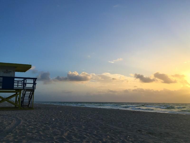 lever de soleil miami beach
