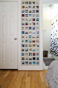 mur de photos polaroid