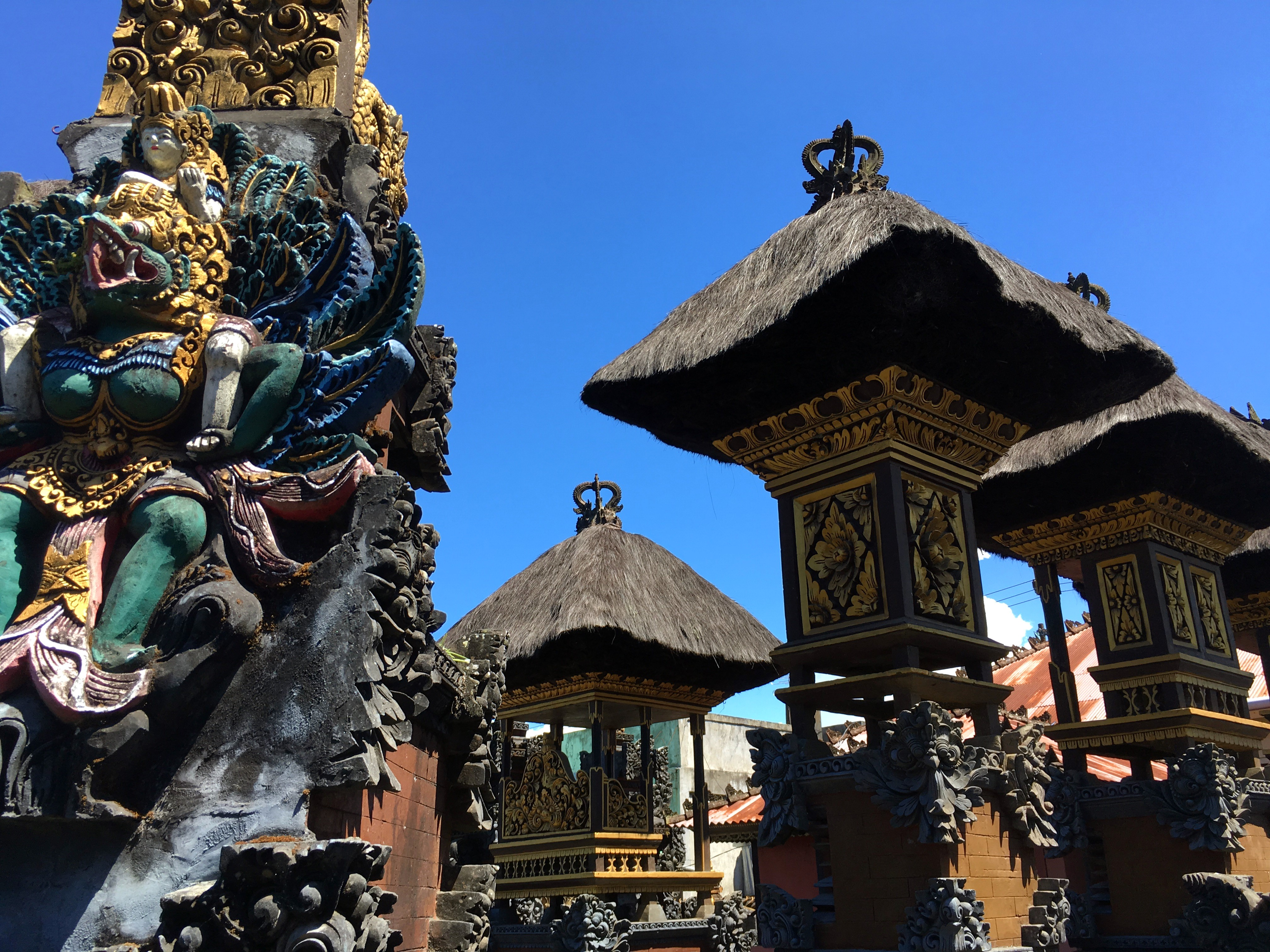 Temple Hindou Blanc Bali Photo stock Image