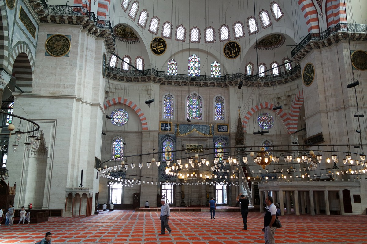 interieur mosquee bleue istanbul