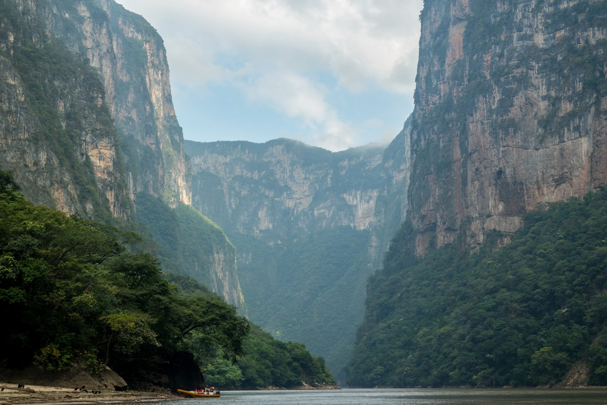 canyon sumidero chiapas mexique